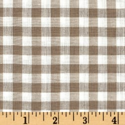 Rustic Woven Shirting Check Natural Taupe