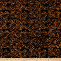 Timeless Treasures Batik Tonga Chai Marine Leaves Black