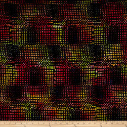 Timeless Treasures Batik Tonga Neon Loom Black Fabric