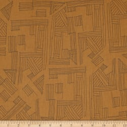 Kaufman Euclid Printed Linen Etchings Earth