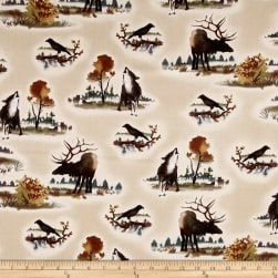 Michael Miller Into The Wild Buck Cream Fabric
