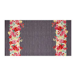 Michael Miller Meet Me In The Meadow Blooming Double Border Gray