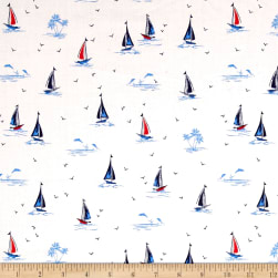 Michael Miller Yacht Club Sail On Ivory