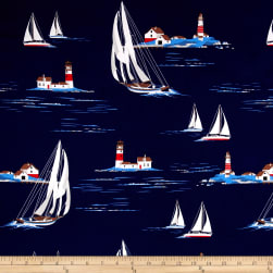Michael Miller Yacht Club Windward Navy Fabric