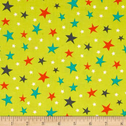 Michael Miller Bot Boy Atomic Stars Lime Fabric