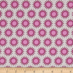Kaufman Paintbox Pacific Sunburst Cerise Fabric