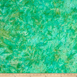 Kaufman Elemental Batiks Tonal Dots Grass Fabric
