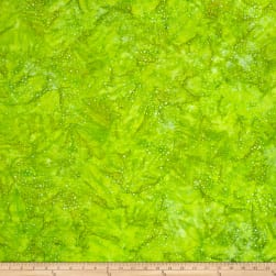 Kaufman Elemental Batiks Tonal Dots Lime Fabric