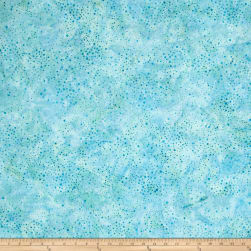 Kaufman Elemental Batiks Tonal Dots Water Fabric