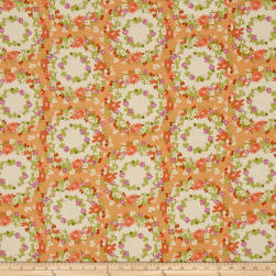 Michael Miller Strawberry Moon Clover Crown Peach Fabric