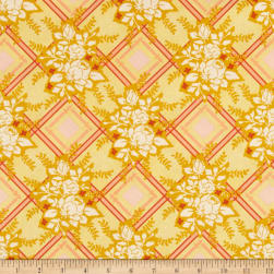 Michael Miller Strawberry Moon Picket Fences Honey Fabric