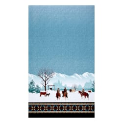 Michael Miller Winter On The Range Border Aqua