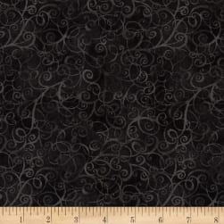 Timeless Treasures Breeze Scroll Blender Noir Fabric