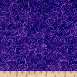 Timeless Treasures Breeze Scroll Blender Purple