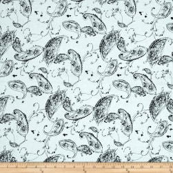 Timeless Treasures Fresh Cut Paisley White Fabric