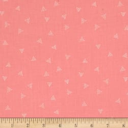 Dear Stella City Life Triangle Dot Coral Fabric