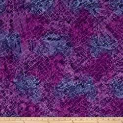 Timeless Treasures  Tonga Batik Jamboree Dotty Net Violet