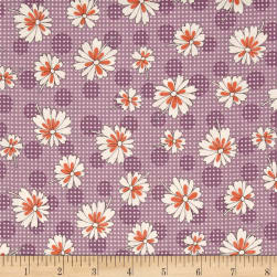 Stitcher's Garden Zinnias Plum Fabric