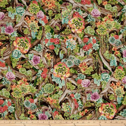 Oasis Metallic Perennial Paradise Sunrise Fabric