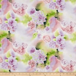 Oasis Metallic Serene Scene Thistle Fabric