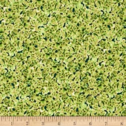 Oasis Metallic Fresh Florets Aloe Fabric