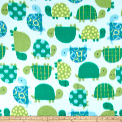 Winter Fleece Turtle Time Blue/Green Fabric