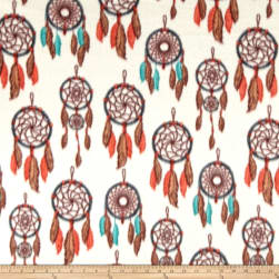 Winter Fleece Dreamcatcher Cream Fabric