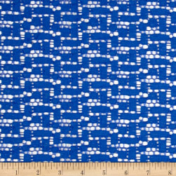 Crochet Lace Blue Fabric