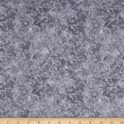"Essentials 108"" Wide Back Flannel Filigree Dark Gray"