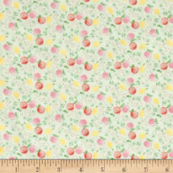 Jungle Giraffe Fruits and Me Flannel Lime Fabric