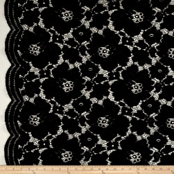 Telio Sadie Lace Black Fabric