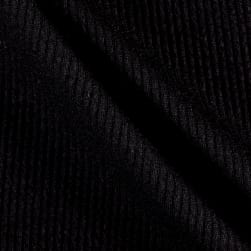 Telio Melange Rib Knit Black Fabric