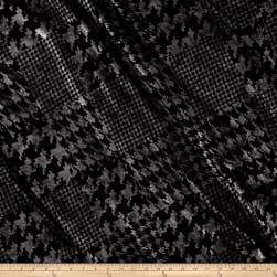 Telio Houndstooth Double Knit Silver