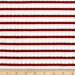 Telio Nautique Rib Knit Stripe Red Fabric