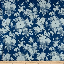 Telio Denim Flower Print Light Blue