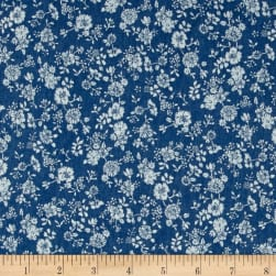 Telio Denim Floral Print Light Blue Fabric