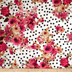 Telio Bloom Stretch Cotton Sateen Flower and Dots