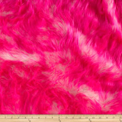Shannon Luxury Faux Fur Candy Shag Hot Pink