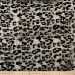 Luxury Faux Fur White Panther White/Black