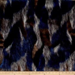 Shannon Luxury Faux Fur Matterhorn Midnight/Black Fabric