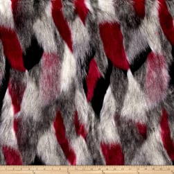 Shannon Luxury Faux Fur Matterhorn Fuchsia/Black Fabric