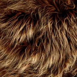 Shannon Luxury Faux Fur Monster Amber Frost