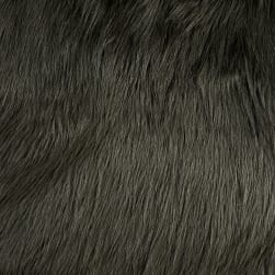 Shannon Luxury Faux Fur Arctic Fox Steel Fabric