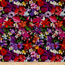 Mystic Meadow Digital Print Floral Paradise Fabric
