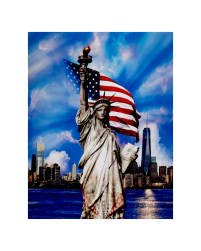 "Land That I Love Digital Print 35"" Panel Americana"