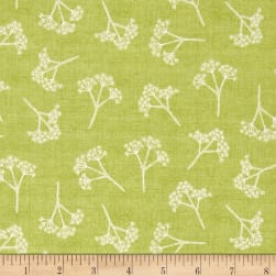 Heartwood Cow Parsley Green Fabric