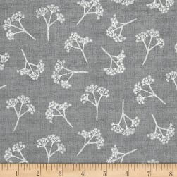 Heartwood Cow Parsley Gray Fabric