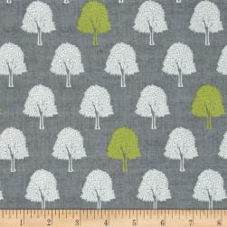 Heartwood Trees Gray Fabric
