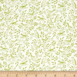 Heartwood Songbird Green Fabric