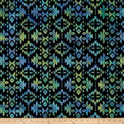 Indian Batik Sierra Nevada Southwest Stripe Motif Navy